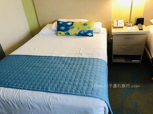 ハワイの子連れホテル2回目のベッド写真